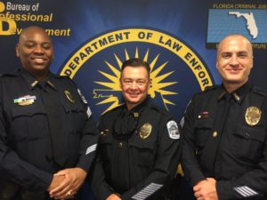 (From left to right) Sergeant Dion Freeman, Operation Bureau Captain James Mulligan and Sergeant Joshua Steinman.