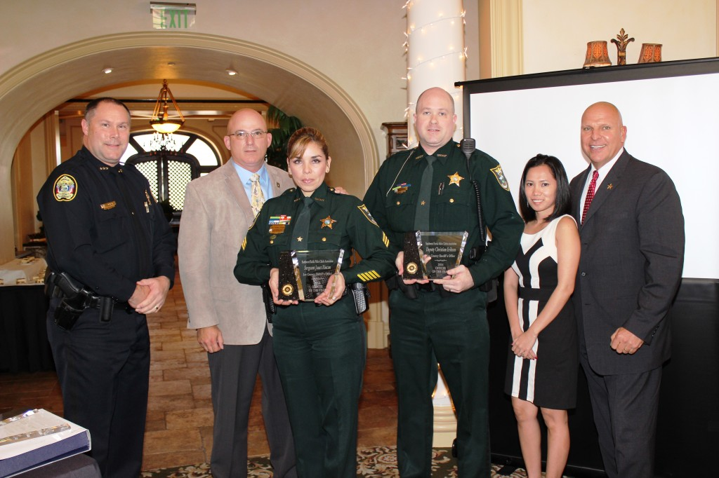 2014 SWFPCA Officer of the Year- Sgt. Janet Rincon and Deputy Christian Eriksen, Lee County S.O.