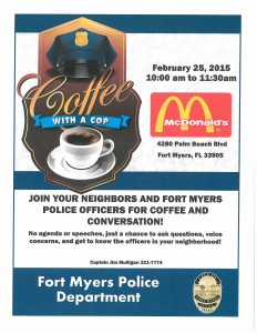 Coffee with a Cop McDonalds