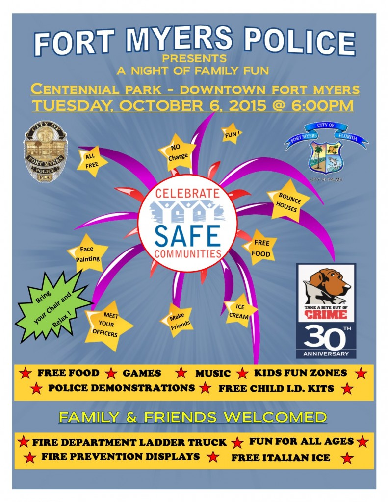 SAFE COMMUNITIES flyer