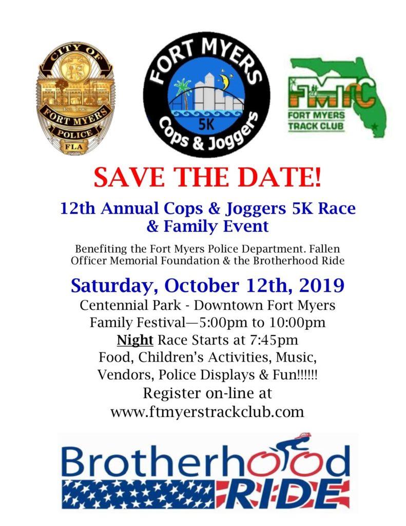 Saturday, October 12, 2019 Centennial Park  register at www.ftmyerstrackclub.com