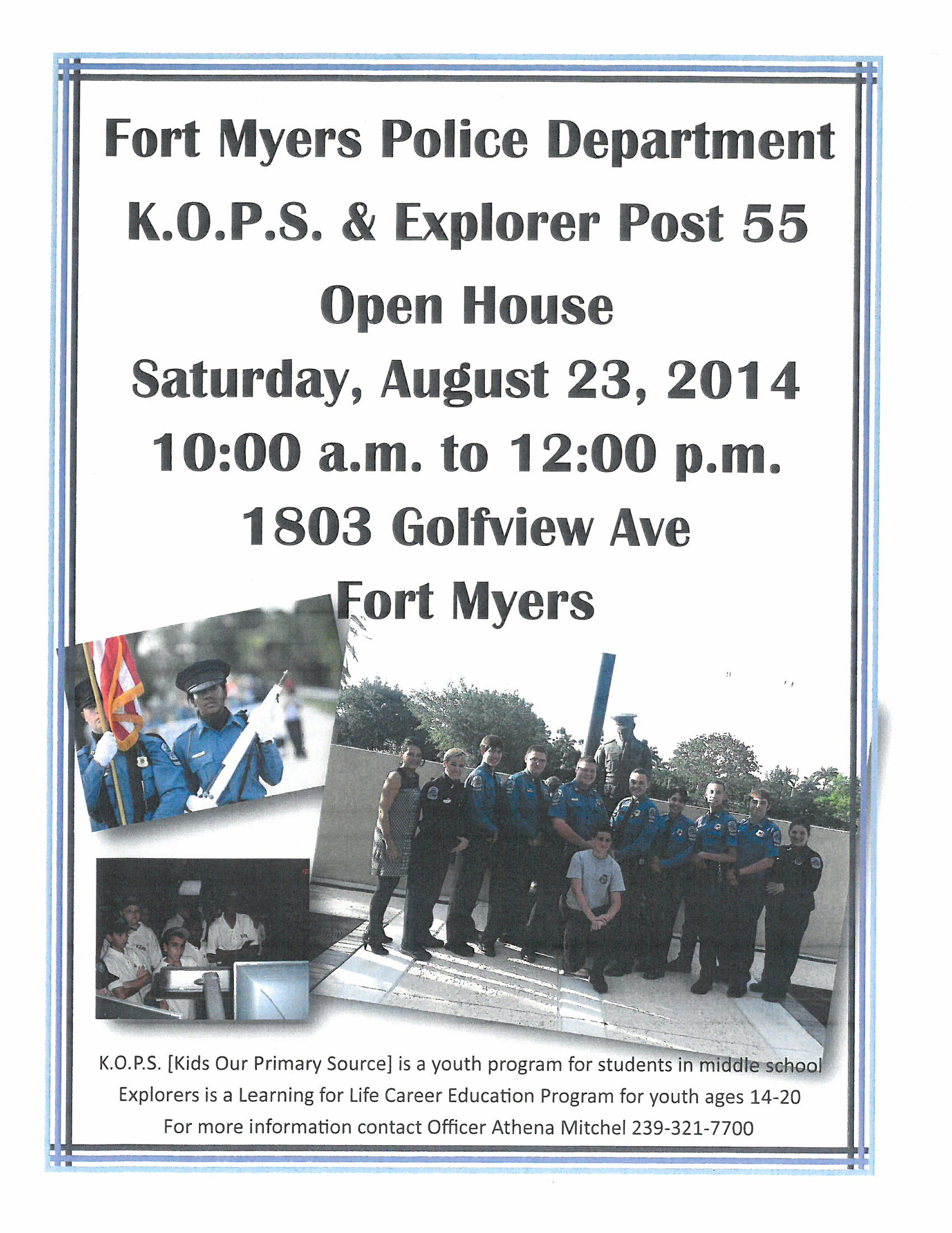 FMPD Hosts Open House for Youth Programs – Southwest Florida